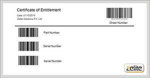 Certificate of Entitlement by Zelite